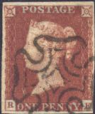 1841 1d Red SG8 Plate 19 'RF'